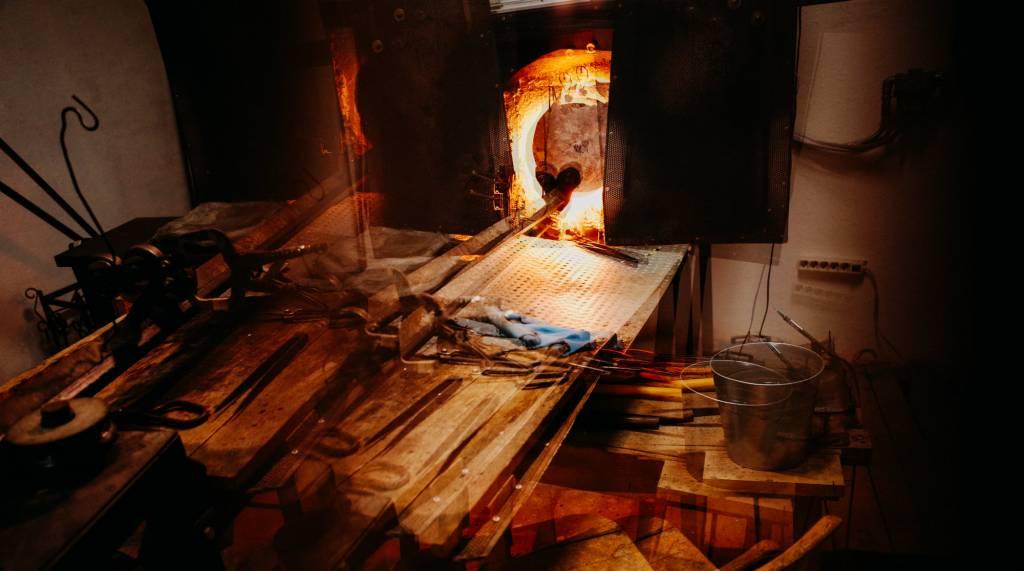 La fornace Joga Glass laboratorio del vetro Torino